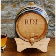 Monogrammed Mini Oak Barrel For Whiskey Or Wine