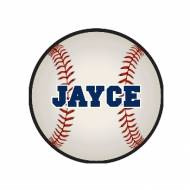 Childs Round Personalized Baseball Needlepoint Rug
