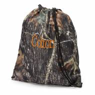 Monogrammed Woods Camo Drawstring Bag
