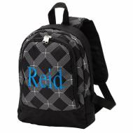 Monogrammed Black Sporty Diamond Small Backpack