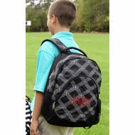 Monogrammed Black Sporty Diamond Backpack With Tablet Compartment