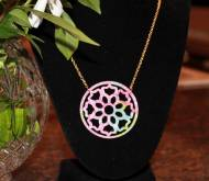Lilly Medalion Necklace