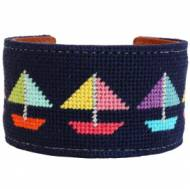 Come Sail Away Needlepoint Cuff
