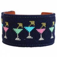 Happy Hour Needlepoint Cuff
