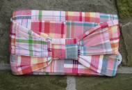 Monogrammed Preppy Plaid Bow Clutch