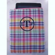 Monogrammed Preppy Plaid IPad Case
