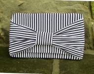 Monogrammed Preppy Cotton Bow Clutch