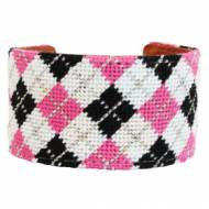 Summer Argyle Needlepoint Cuff