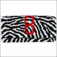 Monogrammed Beaded Zebra Clutch Bag With Diamond Font