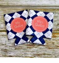 Monogrammed Wedding And Greek Can Koozies