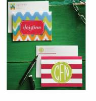 Monogrammed Folded Note Cards