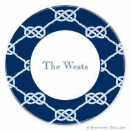 Nautical Knot Navy Melamine Plate