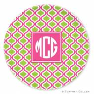 Kate Raspberry & Lime Melamine Plate