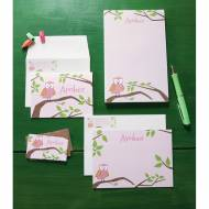 Monogrammed Little Girls Stationery Set