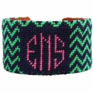 Chevron Monogram Needlepoint Cuff