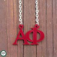 Greek Alpha Phi Acrylic Necklace