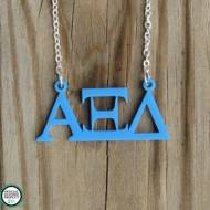 Greek Alpha Xi Delta Acrylic Necklace