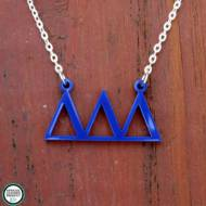 Greek Delta Delta Delta Acrylic Necklace