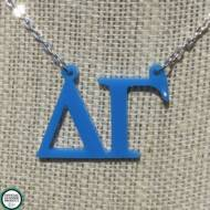 Greek Delta Gamma Acrylic Necklace
