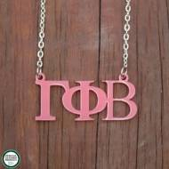 Greek Gamma Phi Beta Acrylic Necklace
