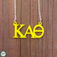 Greek Kappa Alpha Theta Acrylic Necklace