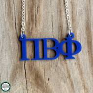 Greek Pi Beta Phi Acrylic Necklace