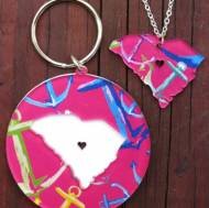My State Francesca Joy Necklace And Keychain Set