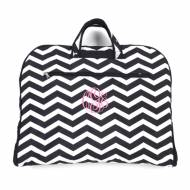 Monogrammed Black Chevron Garment Bag