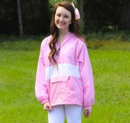 Monogrammed Striped Pullover Jacket