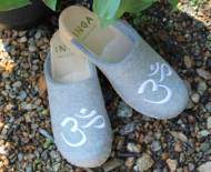 Granite Wool Clogs With The OHM Symbol