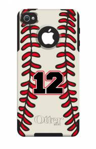 Customized Baseball OtterBox Commuter Case For IPhone And Galaxy