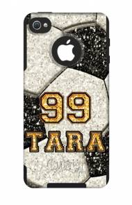 Customized Glitter Soccer OtterBox Commuter Case For IPhone And Galaxy
