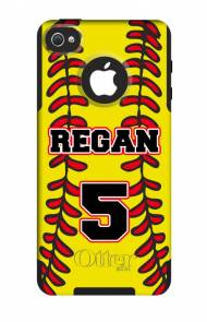 Customized Softball OtterBox Commuter Case For IPhone And Galaxy