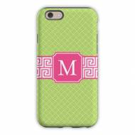 Greek Key Band Pink Cell Phone Case