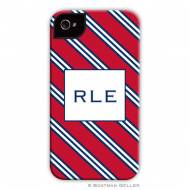 Repp Tie Red & Navy Cell Phone Case