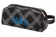 Monogrammed Black Sporty Diamond Pencil Or Toiletry Bag