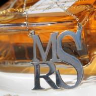 Deco Monogrammed Necklace