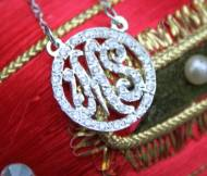Monograms And Diamonds Our Classic Monogrammed Necklace