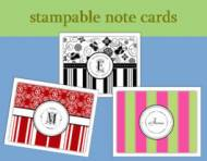 Stampable Note Cards From PSA Essentials
