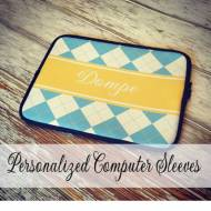 Monogrammed Neoprene Laptop Sleeve In Colorful Patterns And Greek Letters