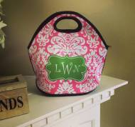 Monogrammed Insulated Lunch Tote Made Of Washable Neoprene