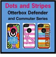 Customized Dots And Stripes OtterBox Commuter Cases For IPhone And Galaxy
