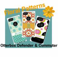 Customized Floral OtterBox Commuter Cases For IPhone And Galaxy