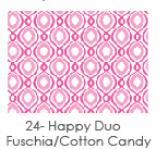 24 Happy Duo Fuschia And Cotton Candy