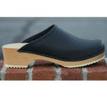 Natural Low Wooden Heel