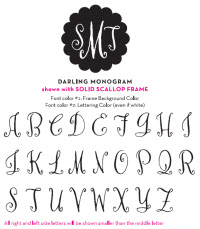 Darling Monogram